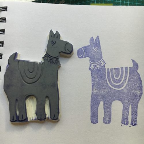 make a print of your newly carved stamp