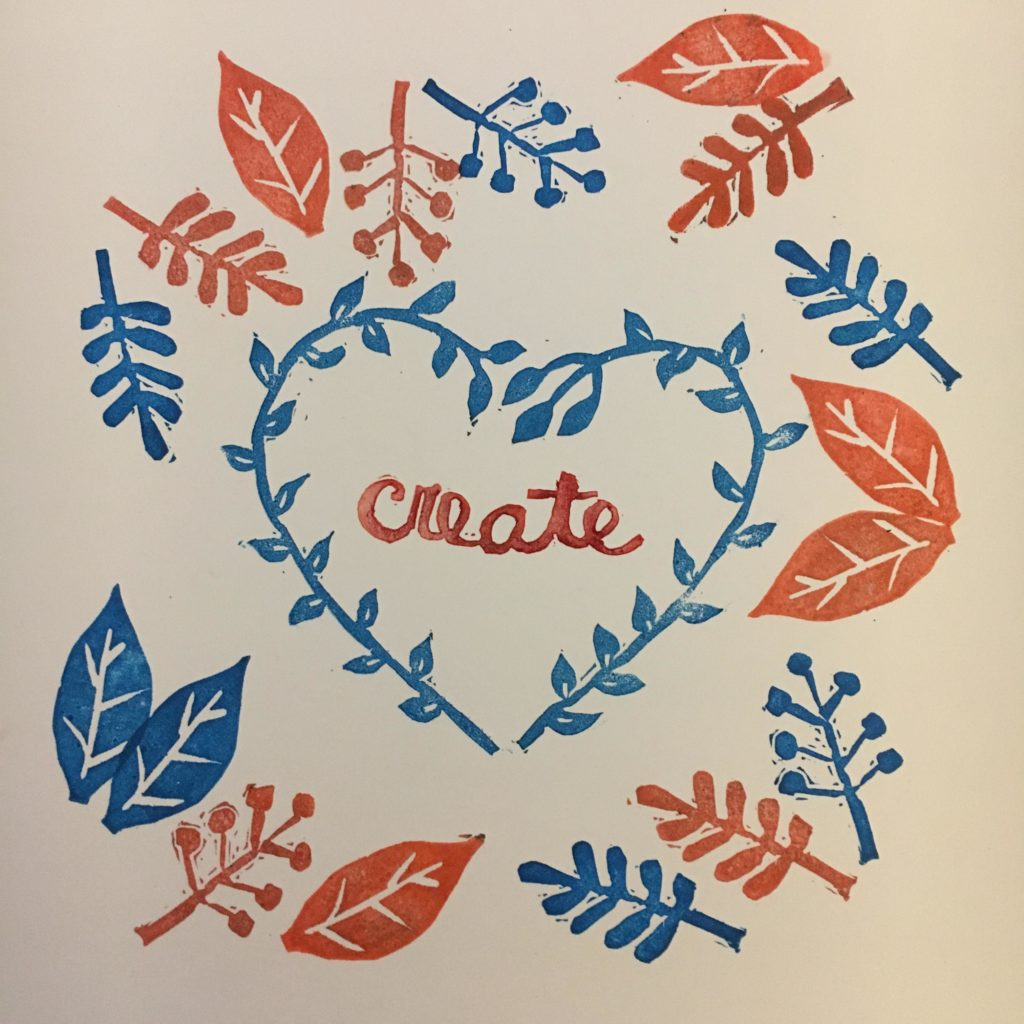 Create - A botanical design in hand carved stamps by My Stamped World