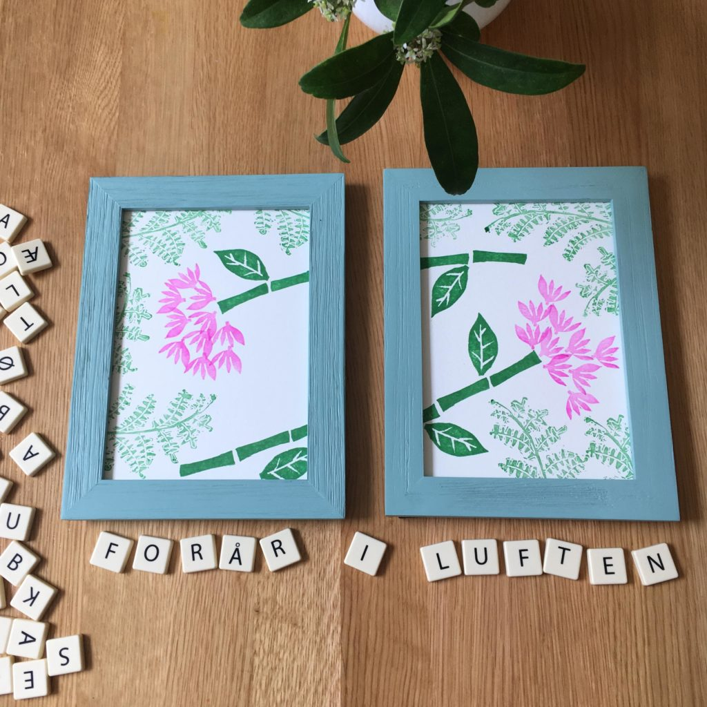 Spring is here! Set of two mini prints designed by My Stamped World