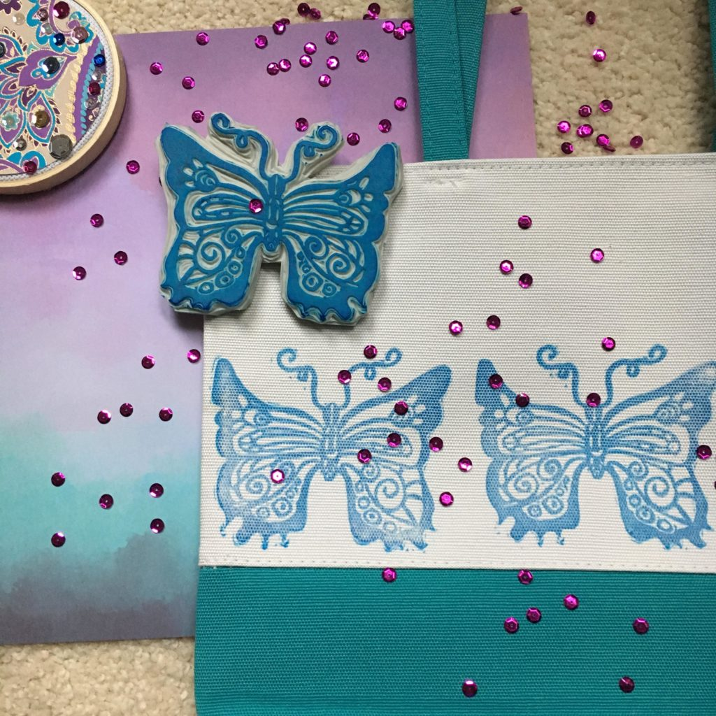 Crafty ideas Blue butterfly hand carved stamp inspiration prints custom orders