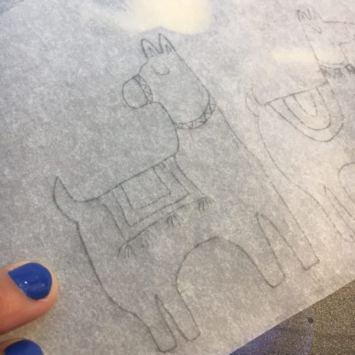 Transfer the drawing to the carving block