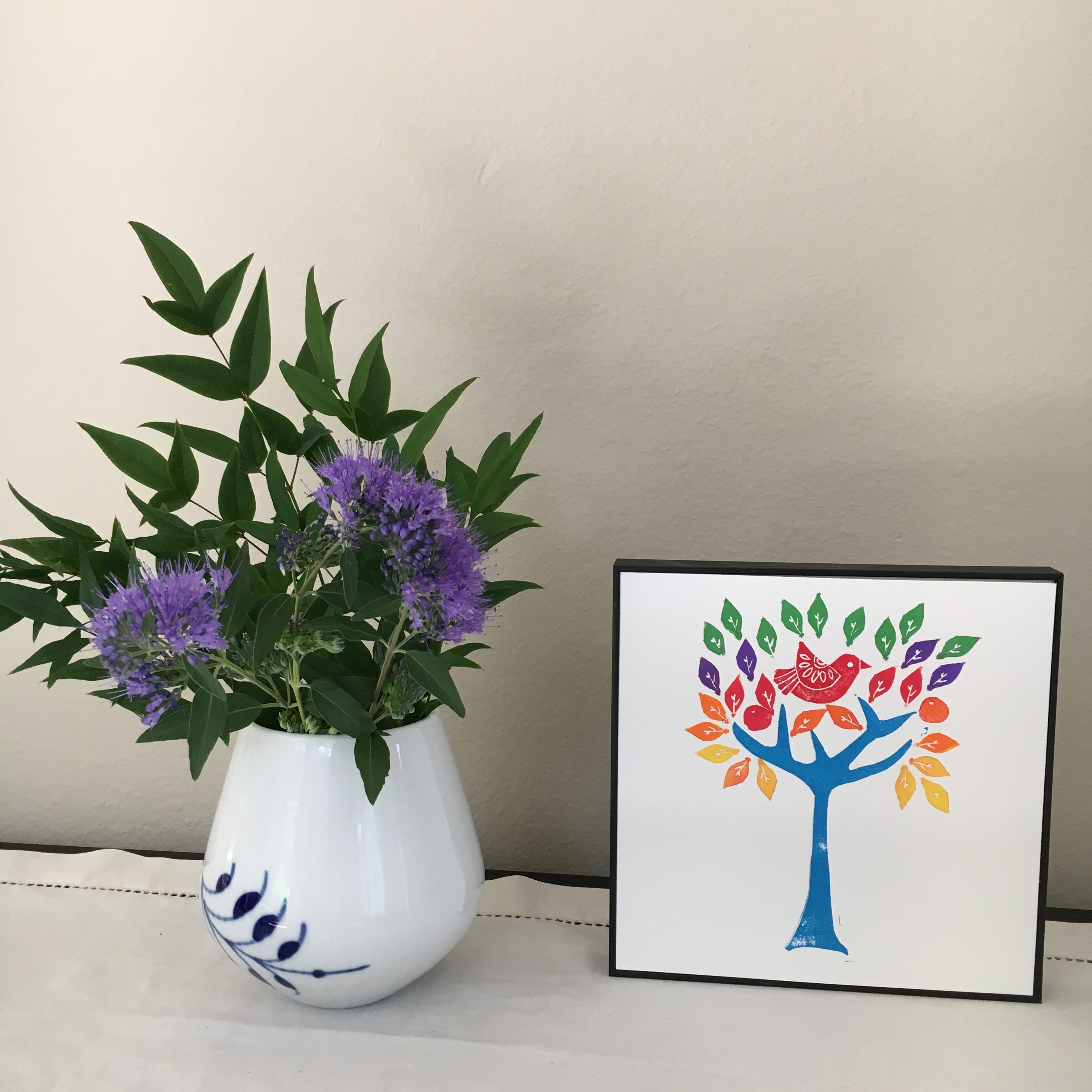 Home decor that you will love - Rainbow Tree of Life by My Stamped World